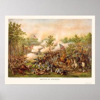 Batalla de Atlanta de Kurz y de Allison 1864 Poster