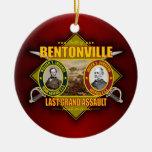 Batalla de Bentonville Adorno Navideño Redondo De Cerámica