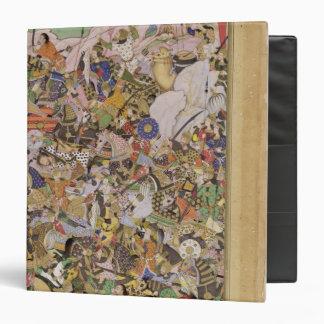 """Batalla de Bundi, del Akbarnama, c.1590 (gouac Carpeta 1 1/2"""""""