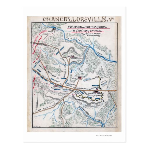 Batalla de Chancellorsville 3 Postal