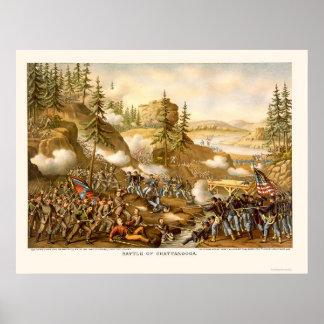Batalla de Chattanooga de Kurz y de Allison 1863 Poster