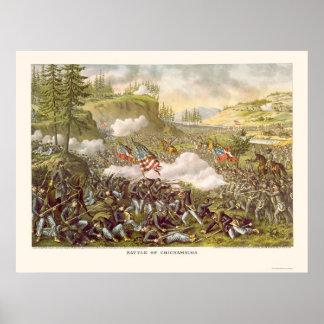 Batalla de Chickamauga de Kurz y de Allison 1863 Impresiones