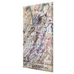 Batalla de Chickamauga - mapa panorámico de la gue Lienzo Envuelto Para Galerias