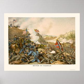 Batalla de Franklin de Kurz y de Allison 1864 Póster