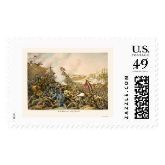 Batalla de Franklin de Kurz y de Allison 1864 Timbre Postal