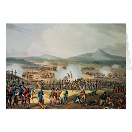 Batalla de Fuentes D'Onoro, grabada por Thomas Tarjeta De Felicitación