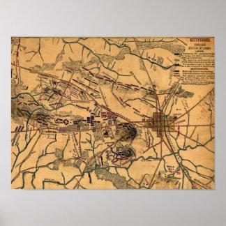 Batalla de Gettysburg 10 Poster