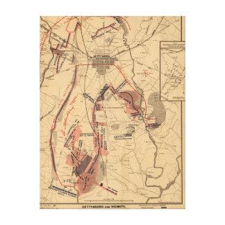 Batalla de Gettysburg 12 Impresion En Lona