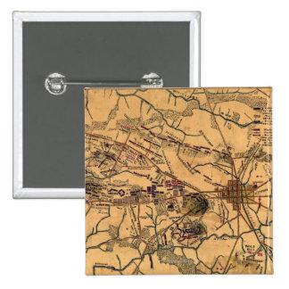 Batalla de Gettysburg 14 Pin Cuadrado