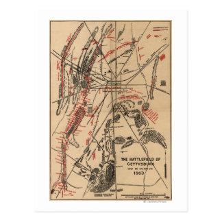 Batalla de Gettysburg 2 Tarjeta Postal