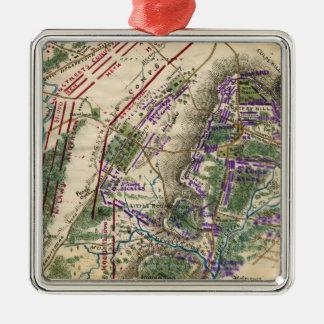 Batalla de Gettysburg 8 Adorno Navideño Cuadrado De Metal