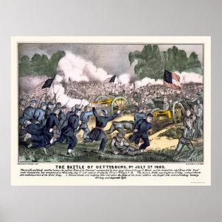 Batalla de Gettysburg en 1863 Impresiones