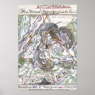 Batalla de Gettysburg Poster