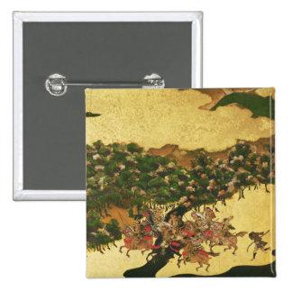 Batalla de Hogen en 1156, período de Momoyama Pin Cuadrada 5 Cm