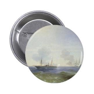 Batalla de Ivan Aivazovsky- del buque de vapor Ves Pin