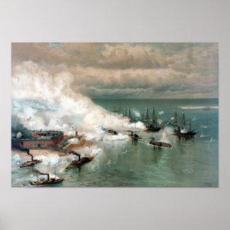 Batalla de la bahía móvil -- Guerra civil Póster