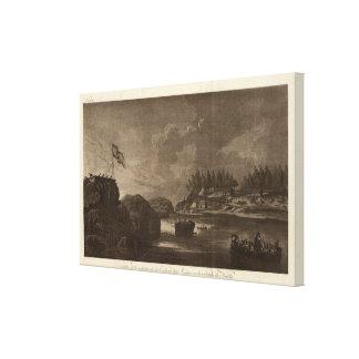 Batalla de la Columbia Británica con los cañones Impresiones En Lona Estiradas