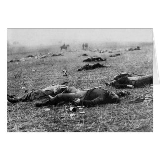 Batalla de la cosecha del de Gettysburg muerte d Felicitacion