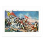 Batalla de la escena del Bunker Hill - Postal