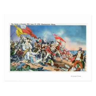 Batalla de la escena del Bunker Hill - Tarjetas Postales