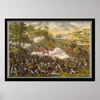 Batalla de la guerra civil americana de Chicamauga Poster