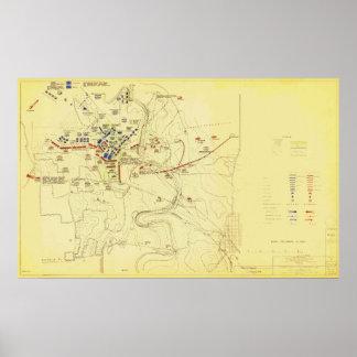Batalla de la guerra civil de los E.E.U.U. del map Poster
