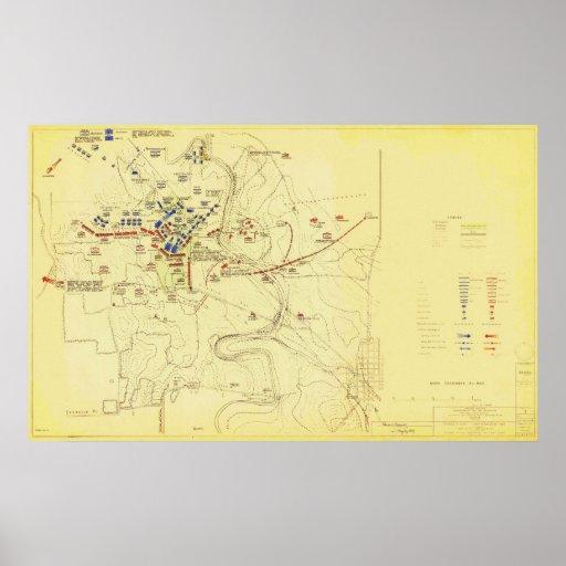 Batalla de la guerra civil de los E.E.U.U. del map Póster
