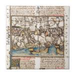 Batalla de la guerra de Troya Teja Cerámica