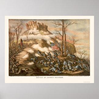Batalla de la montaña del puesto de observación de póster
