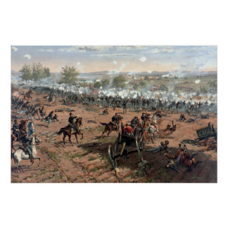 Batalla de la pintura de Gettysburg (restaurado) Posters