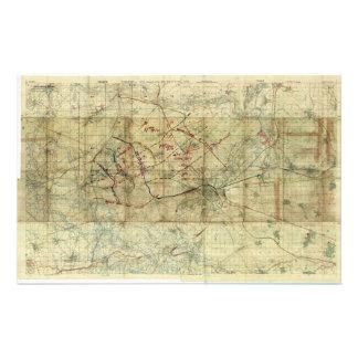 Batalla de la Primera Guerra Mundial del mapa de b Papelería Personalizada