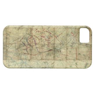 Batalla de la Primera Guerra Mundial del mapa de iPhone 5 Carcasa