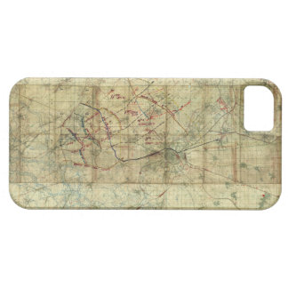 Batalla de la Primera Guerra Mundial del mapa de Funda Para iPhone SE/5/5s
