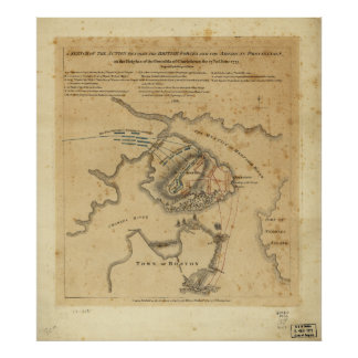 Batalla de la revolución americana del Bunker Hill Póster