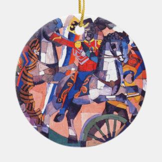 Batalla de la victoria de Aristarkh Lentulov Adorno Navideño Redondo De Cerámica