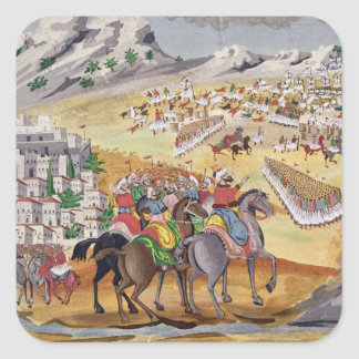Batalla de Langada y de Compoti en 1821, del pi Pegatina Cuadrada