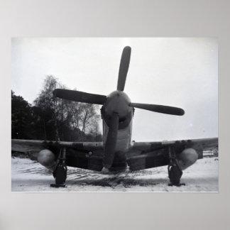 Batalla de las Ardenas del avión de combate del mu Posters