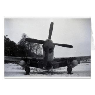 Batalla de las Ardenas del mustango de P 51 Tarjetón