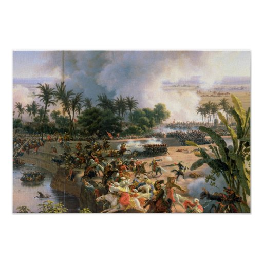 Batalla de las pirámides póster