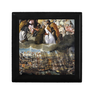 Batalla de Lepanto de Paolo Veronese Joyero Cuadrado Pequeño