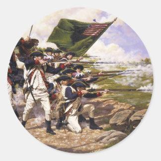 Batalla de Long Island de Domenick D'Andrea Pegatina Redonda