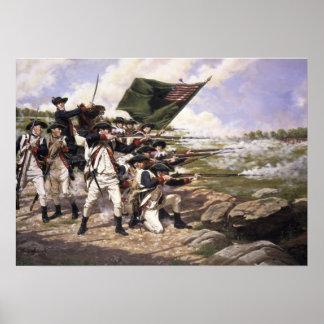 Batalla de Long Island, impresión del arte de la l