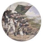 Batalla de Long Island, placa de colector Plato De Cena