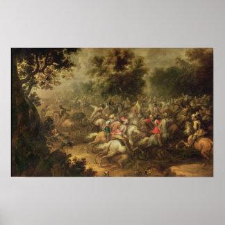 Batalla de los cavalrymen póster