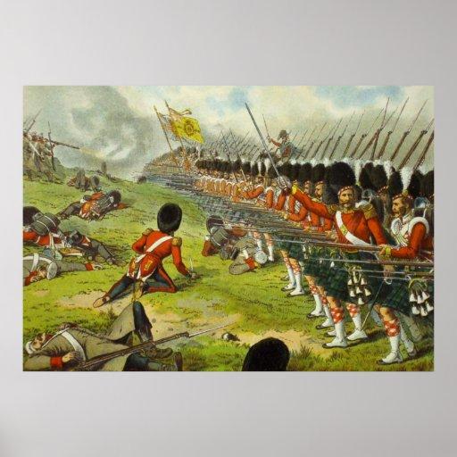 Batalla de los montañeses 1854 de Alma Sutherland Póster