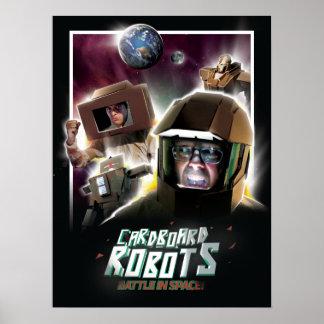 Batalla de los robots de la cartulina en espacio impresiones