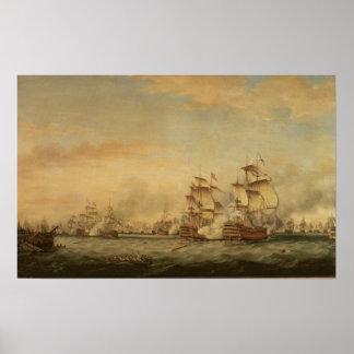 Batalla de los santos, 1782 póster