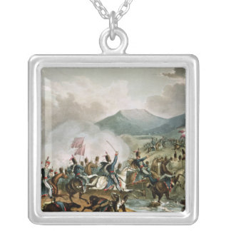 Batalla de Morales, grabada por Thomas Sutherland Collar Plateado