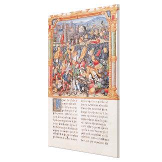 Batalla de Nancy en 1477 Impresiones En Lona