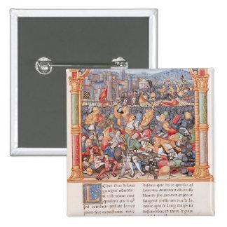 Batalla de Nancy en 1477 Pin Cuadrado